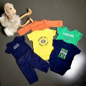 INFANT BOY'S 6 PIECE BUNDLE #1 SIZE 3 MOS